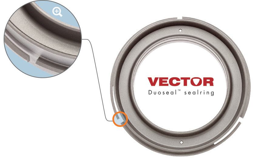 Vector Duoseal™ with retention fingers